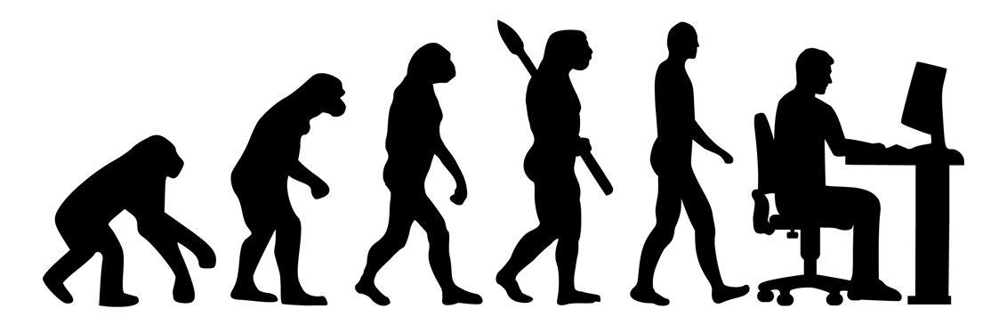 evolution de la techno, tu singe au cellulaire